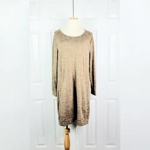 Tacera Casual Sweater Dress With Pockets
